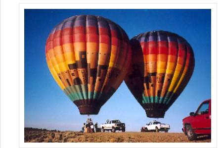 Hot air balloons rides are available in Taos.  They are a common site in the sky above the earthship community.